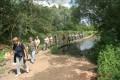Wanderung durch die Saale-Elster-Aue zur Wasserkraftanlage Planena
